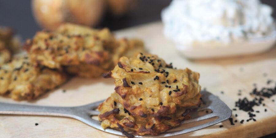 Zwiebeltaler I aus nur 3 Zutaten I Onion Bhajis I Fingerfood
